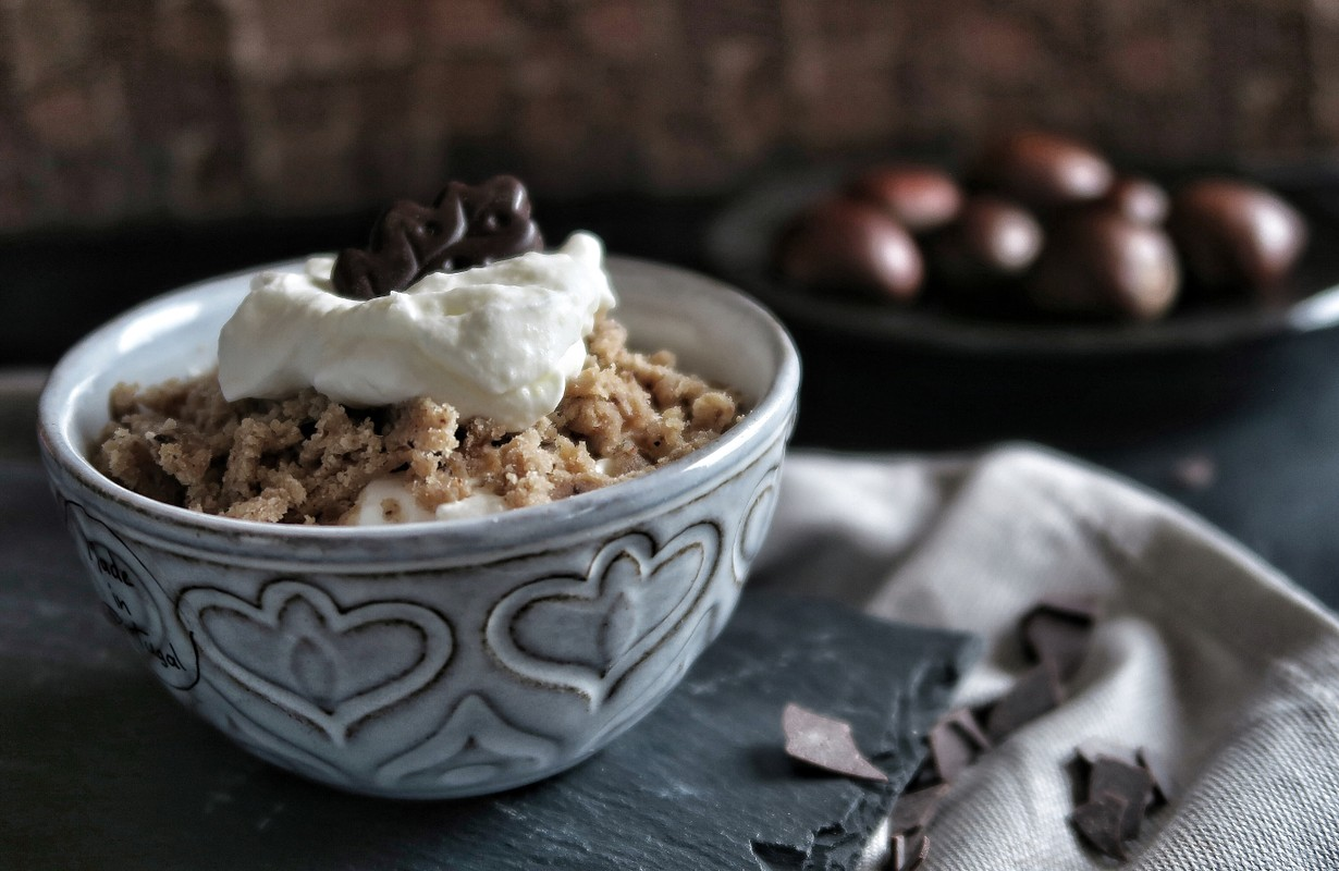 chestnut pure with whipped cream