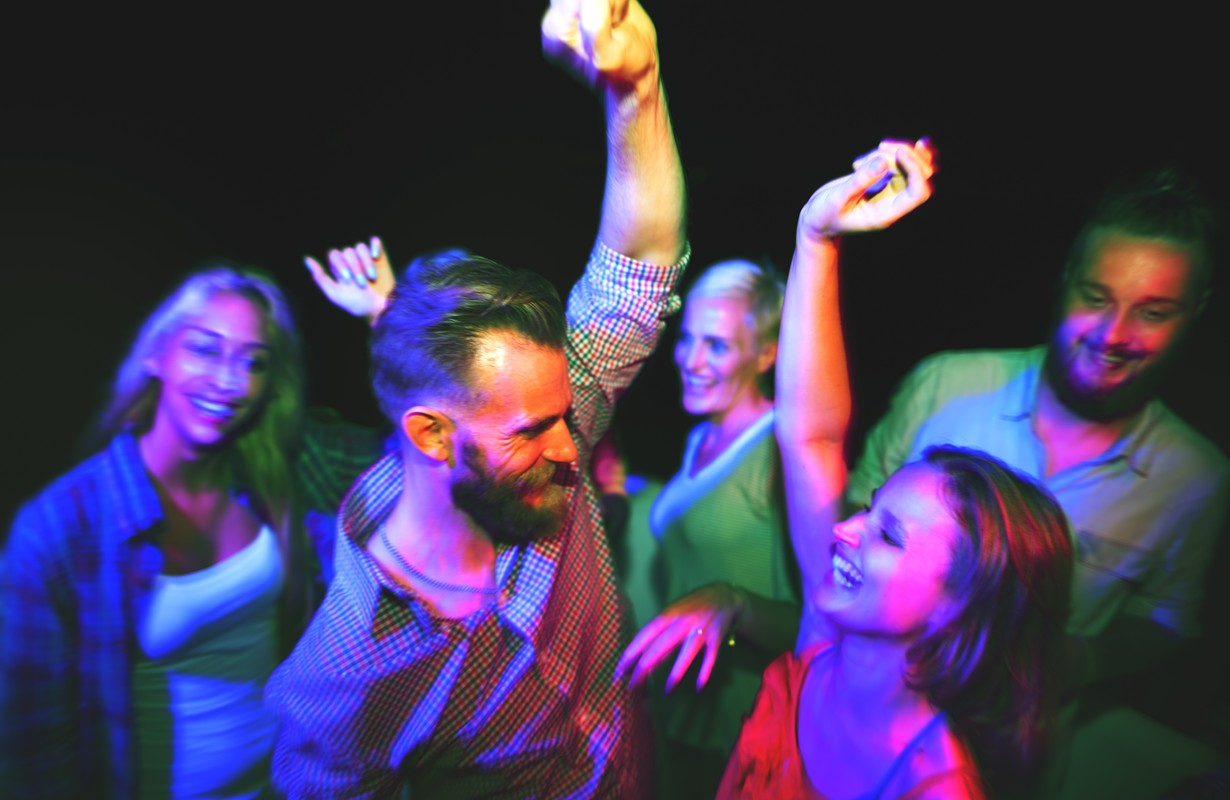 Bar Casual Cheerful Party Nightclub Youth Disco Concept
