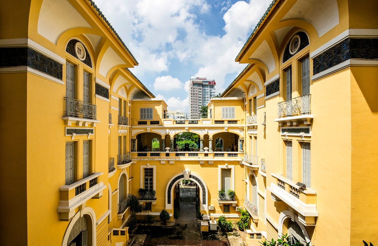 View of the Fine Arts Museum of Ho Chi Minh City in Saigon