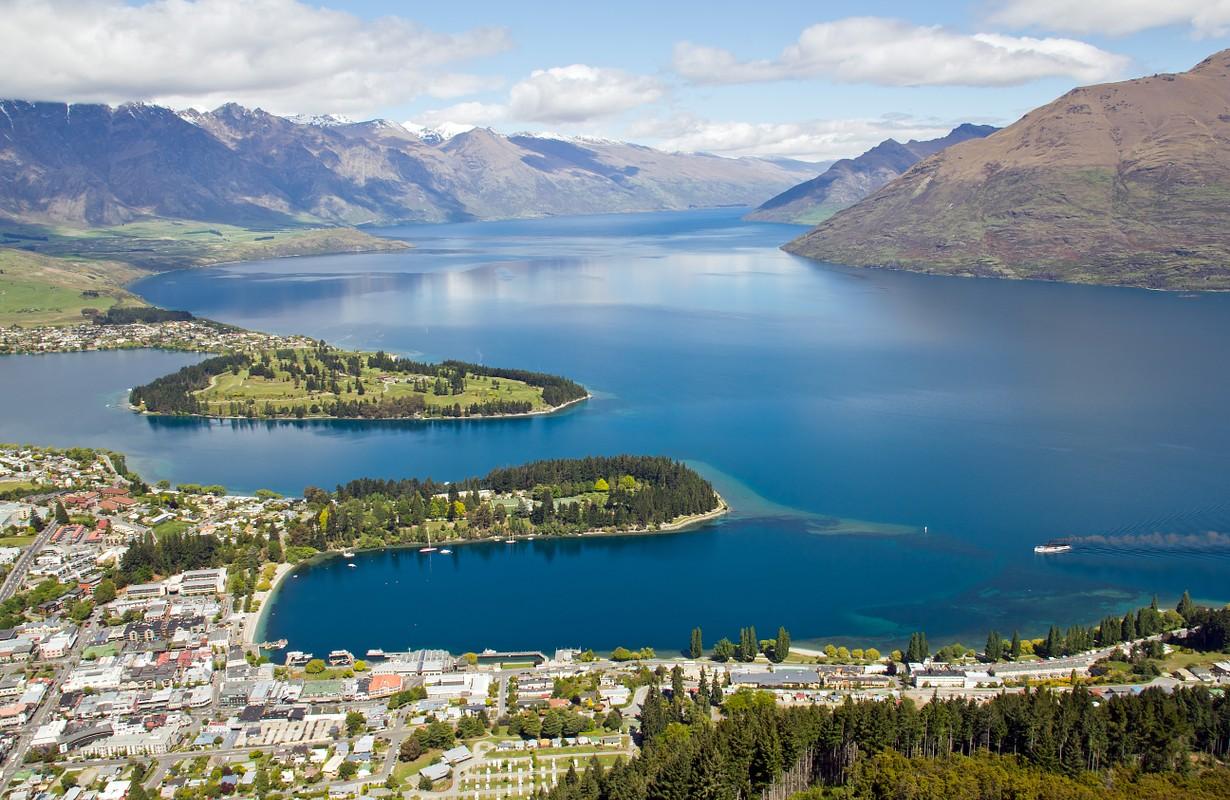 New Zealand, Queenstown, Lake Wakatipu