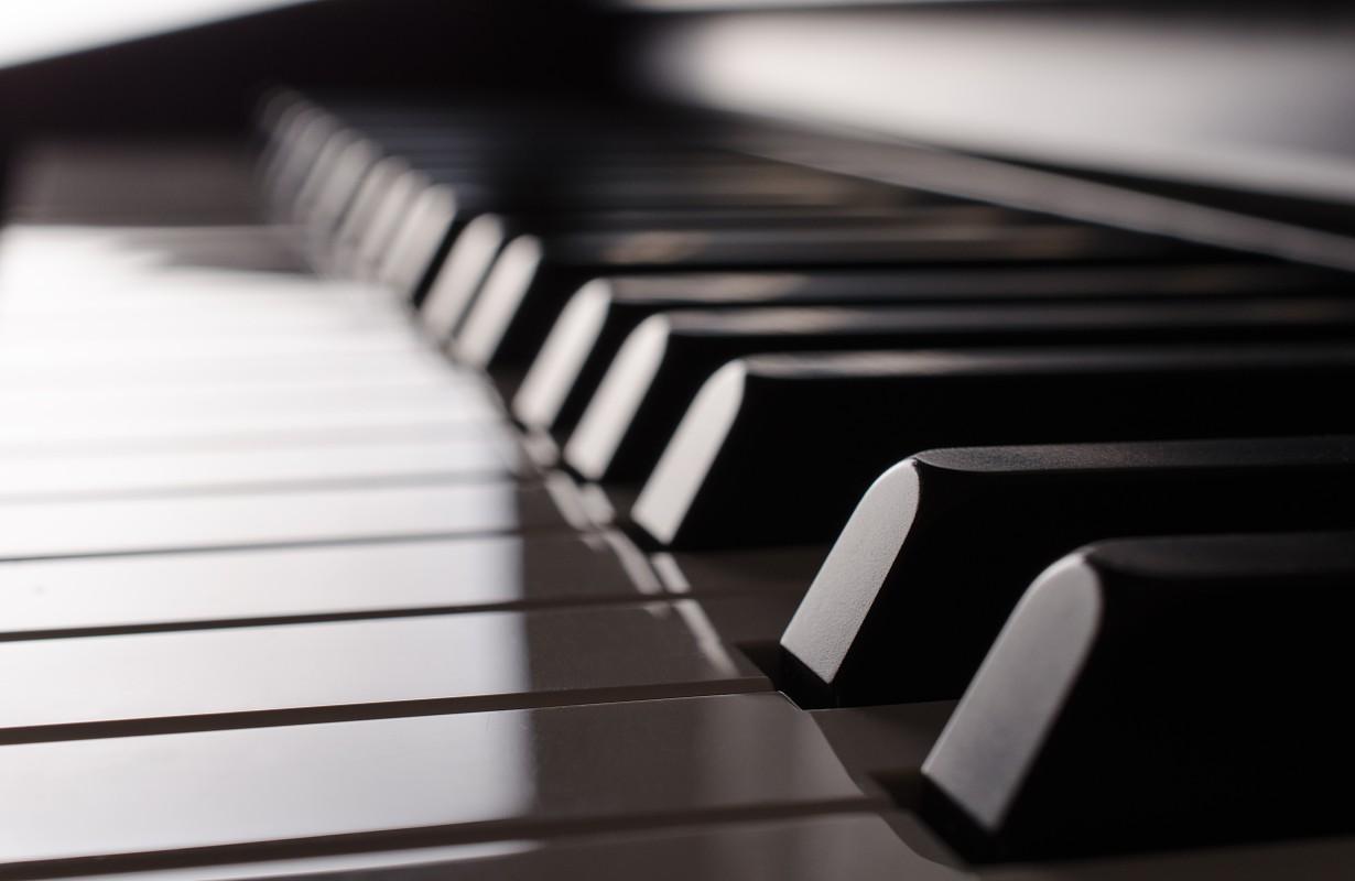 Piano keys from a bar in Houston, Texas