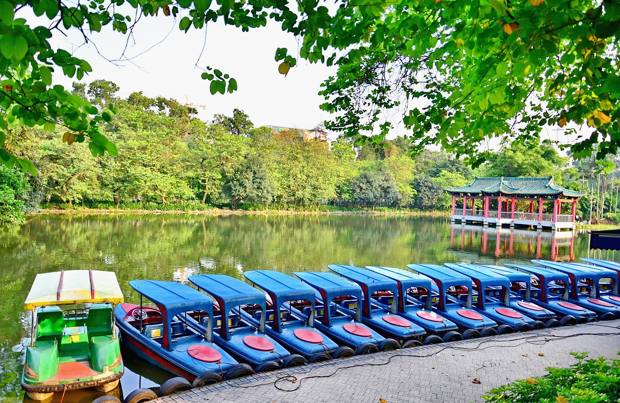 Pedal boat at Yuexiu Park in Guangzhou China