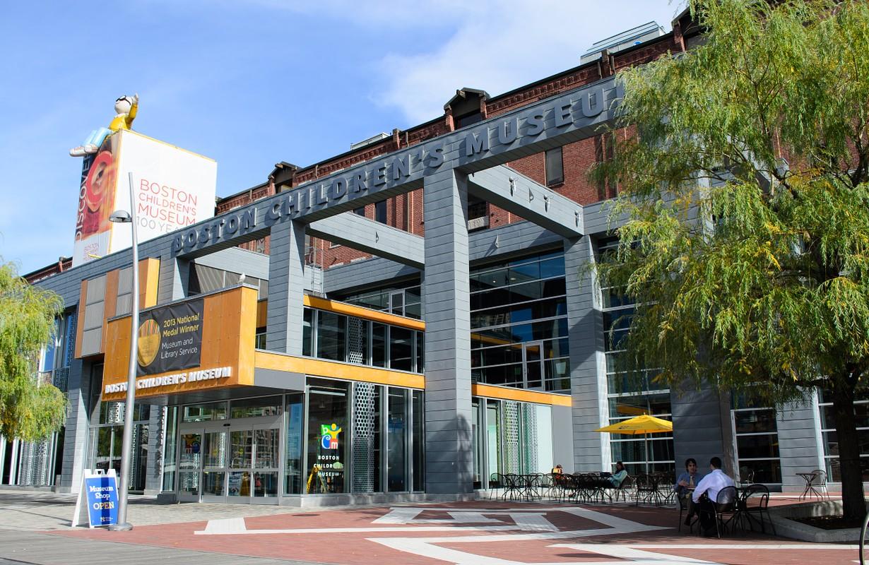 The Boston Children's Museum in the Seaport District of Boston, Massachusetts.