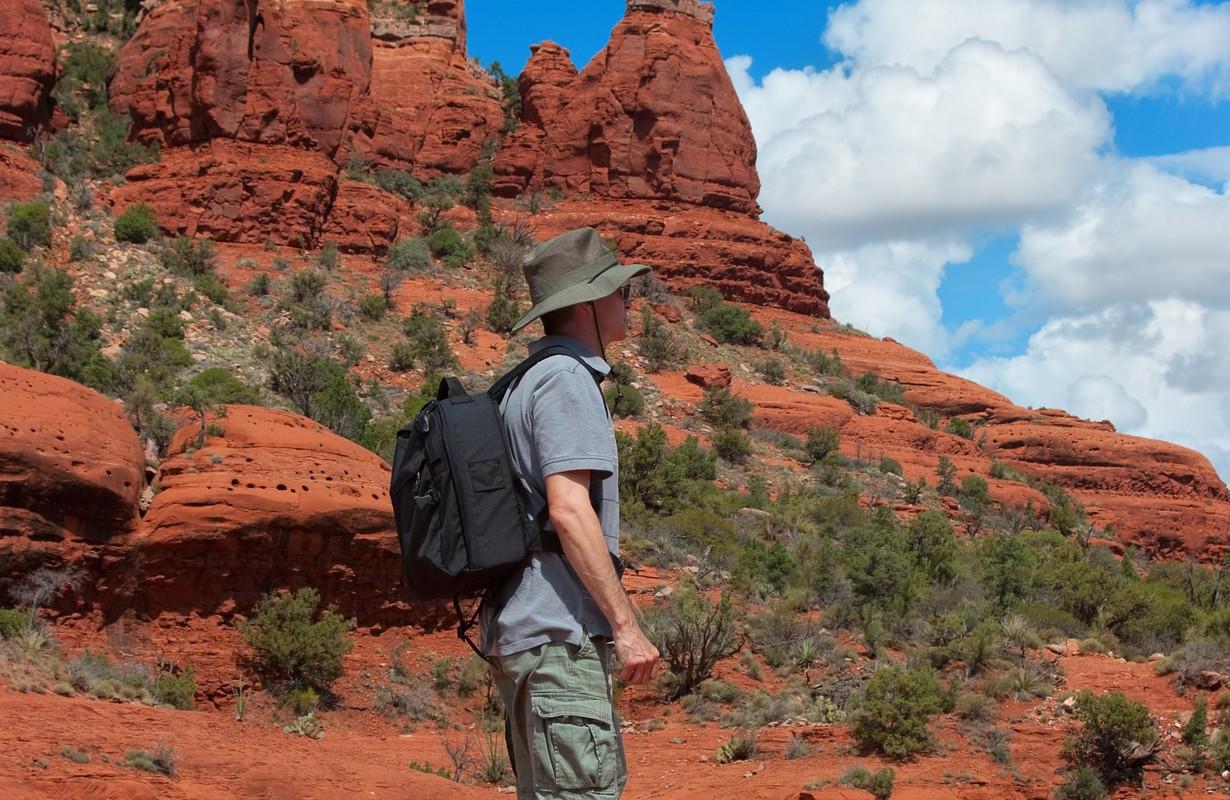 Hiking in beautiful Sedona Arizona