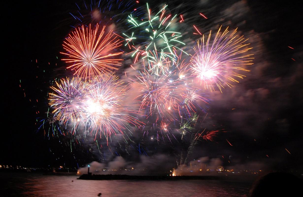 Cap d'Agde, illuminations fireworks