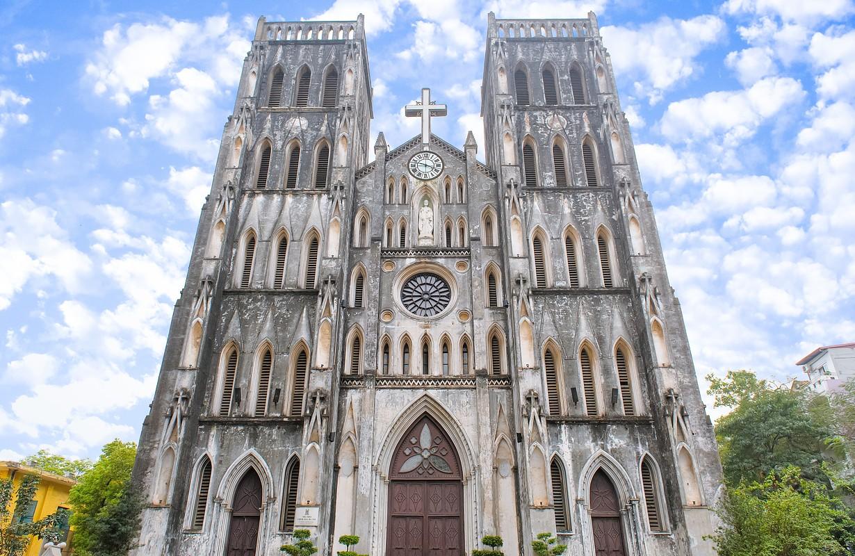 St Joseph's Cathedral in Hanoi, Vietnam