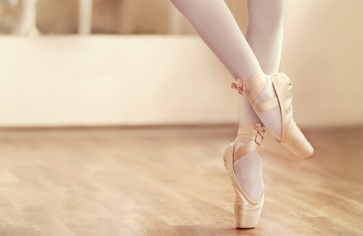 Ballerina and ballet shoes