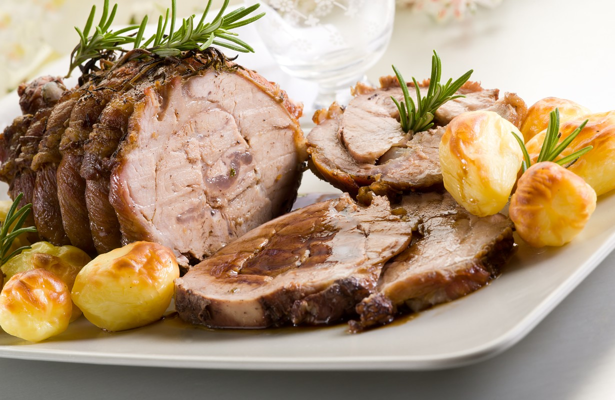Roasted veal with potatoes