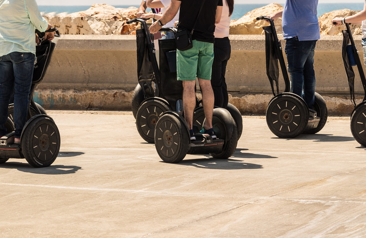 A group of people riding on Segway - San Francisco, California
