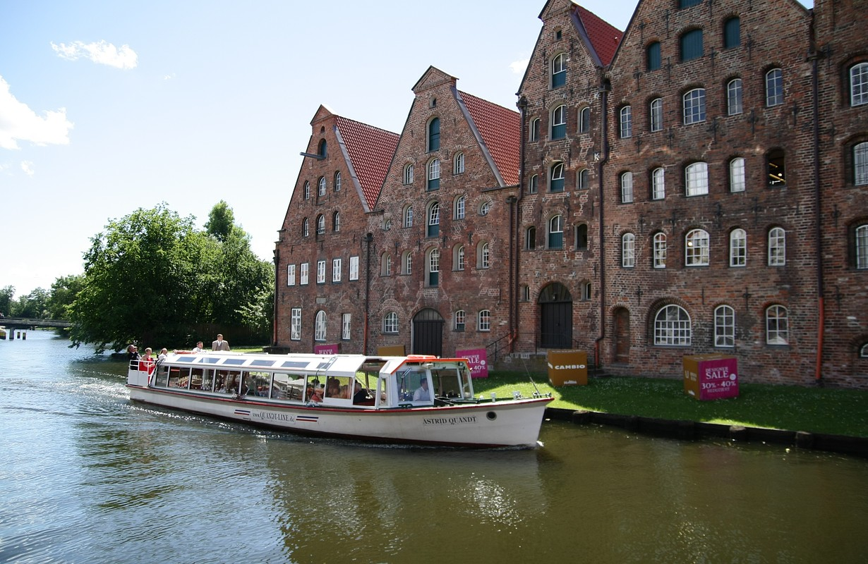 Lübeck by boat