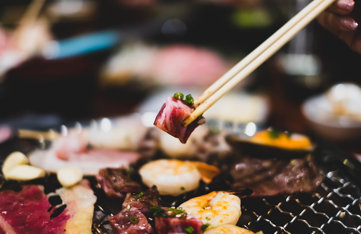 Japanese charcoal grill food