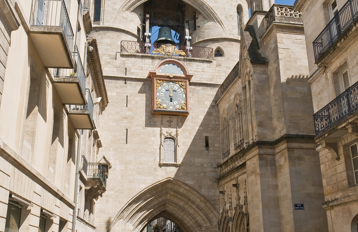 Clock of the Grosse Cloche door at Bordeaux, France