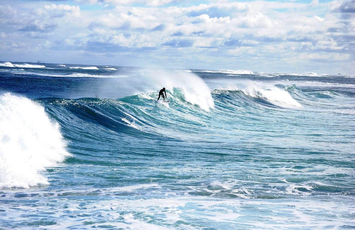 surfer in Margaret river, Western Australia