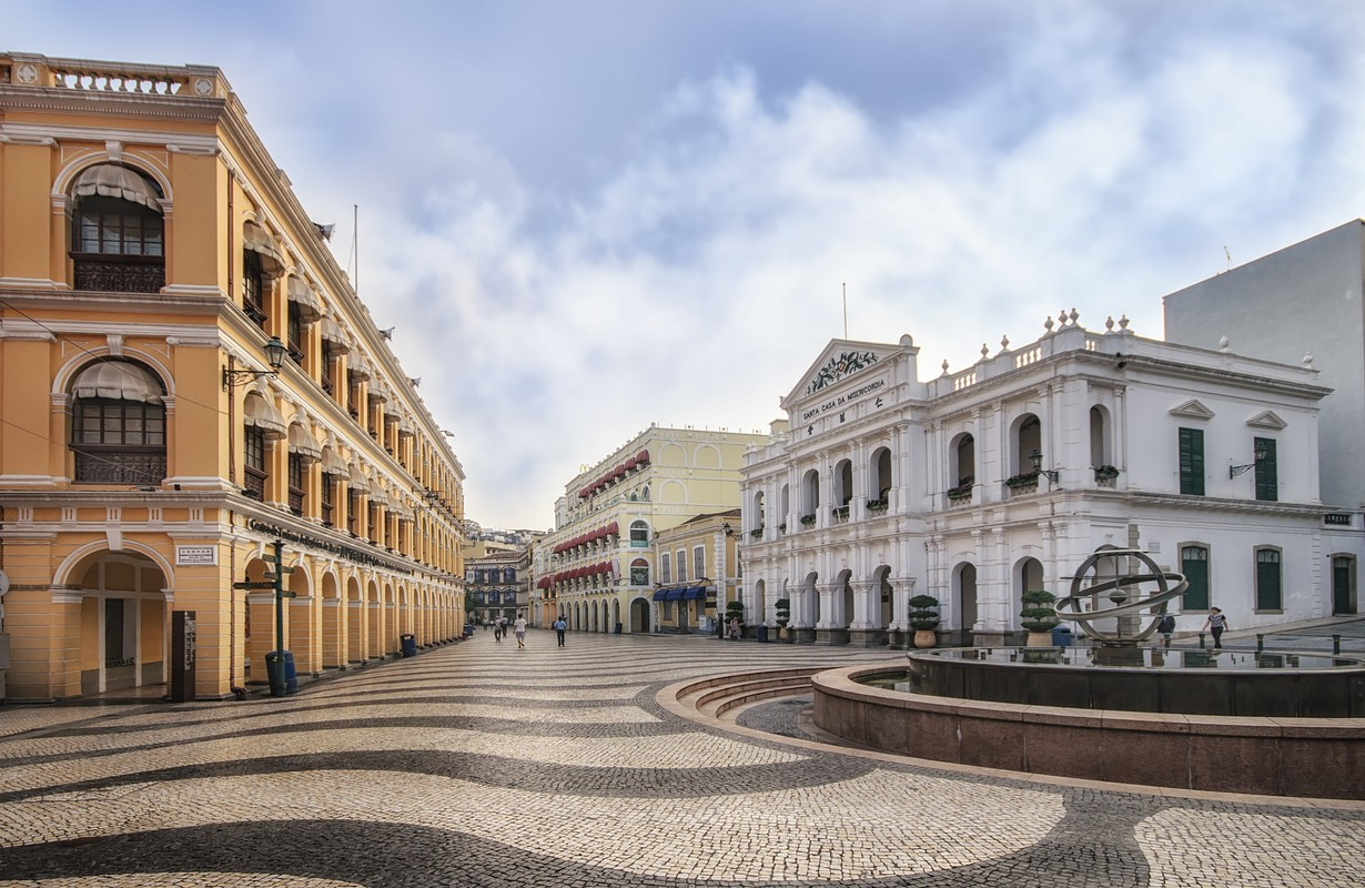 The Senado Square or Senate Square at Macau