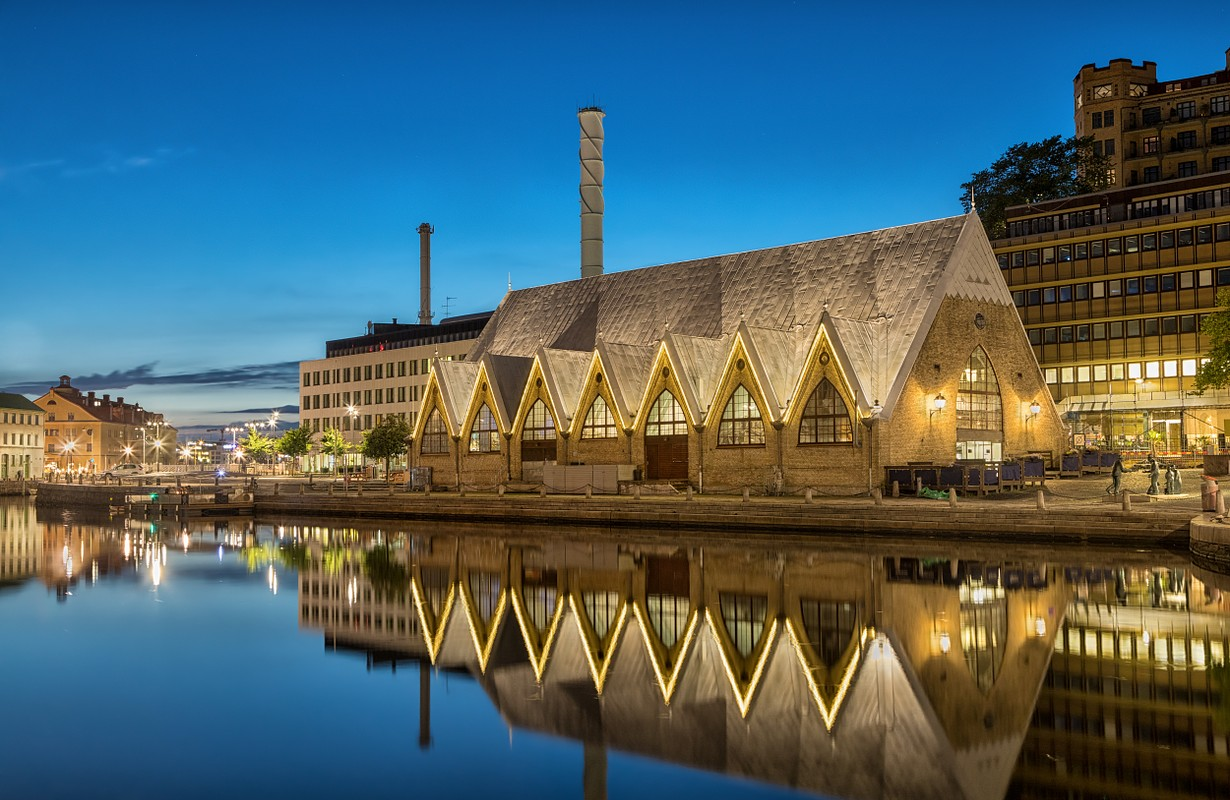 Feskekorka (Fish church) is an indoor fish market in Gothenburg, Sweden, which got its name from the building's resemblance to a Neo-gothic church