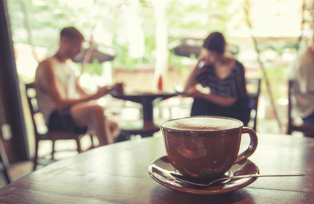 retro cafe table