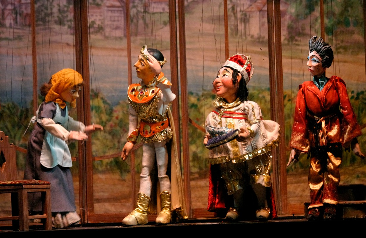 Marionettes from the Swedish Cottage Marionette Theater