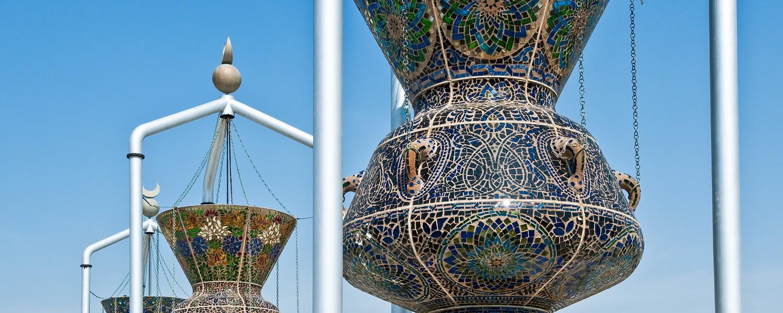 Saudi Arabia, Jeddah,a traditional monument in the Corniche area