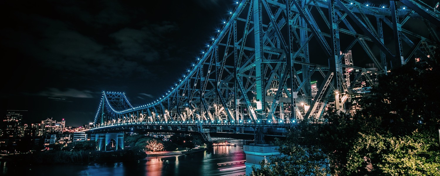 Gray Bridge at Night