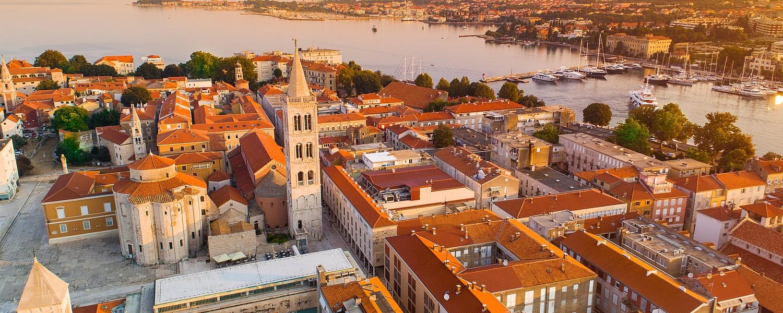Zadar aerial view