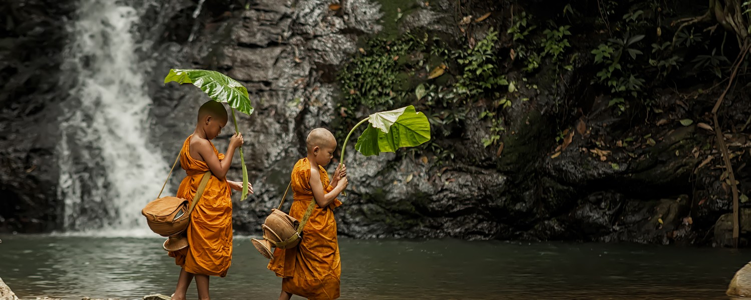Novice monk at Luang Prabang,Laos