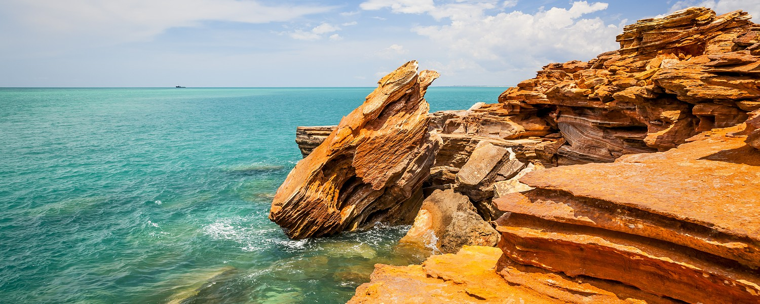 rock cliffs in Broome