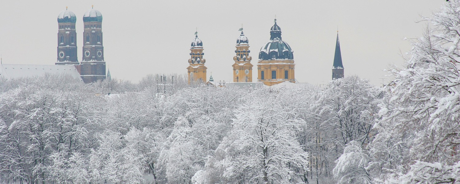 Munich's English Garden in Winter