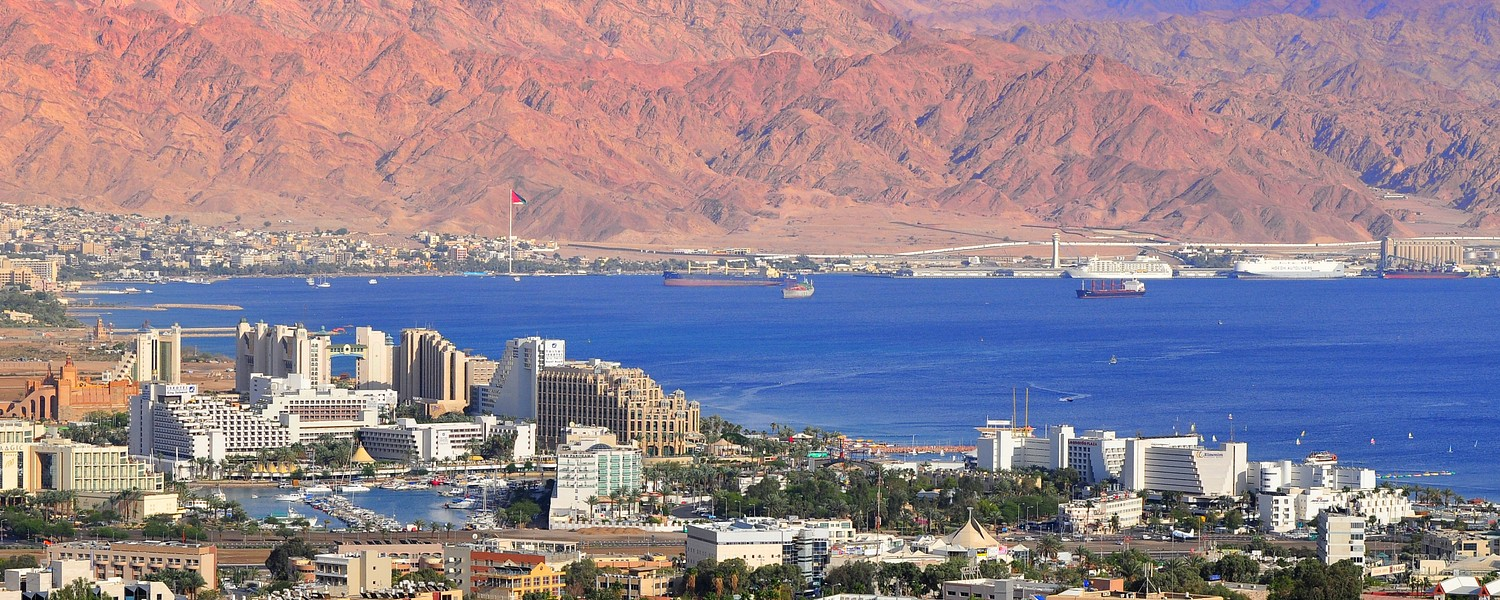 View to Eilat city, famous international resort