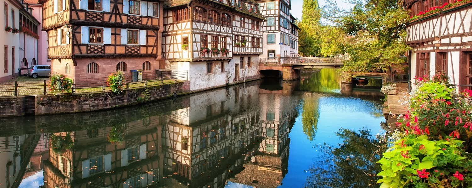 Traditional half-timbered houses in La Petite France, Strasbourg,