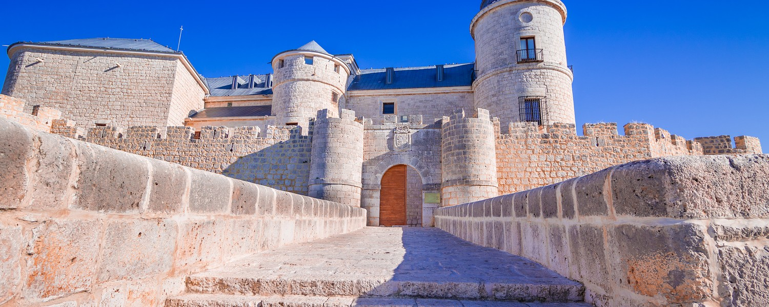 The medieval castle of Simancas, Valladolid, Spain. It currently hosts part of the historical archives of Spain.