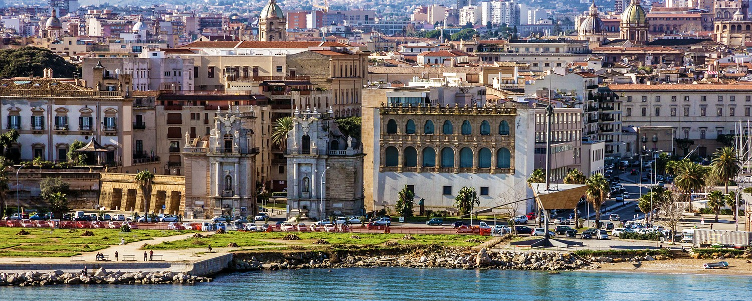 Palermo seafront view