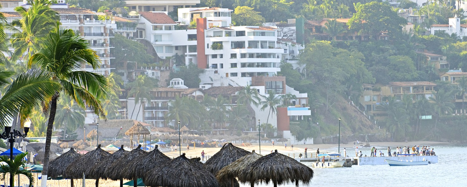 Morning beach and ocean in Puerto Vallarta, Mexico