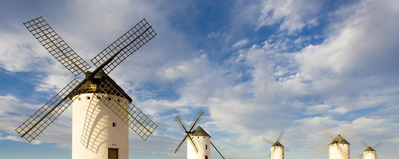 windmills, Campo de Criptana, Castile-La Mancha, Spain