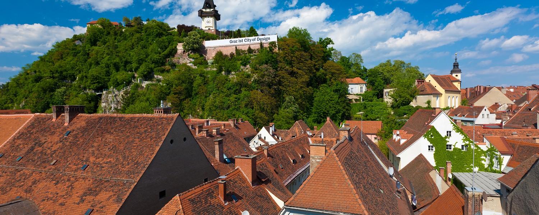 Dachlandschaft/Roofs of Graz