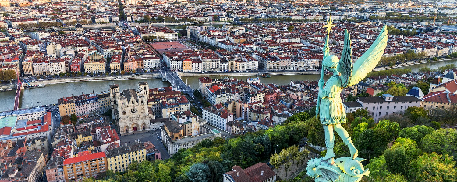 View of Lyon city from Fourviere