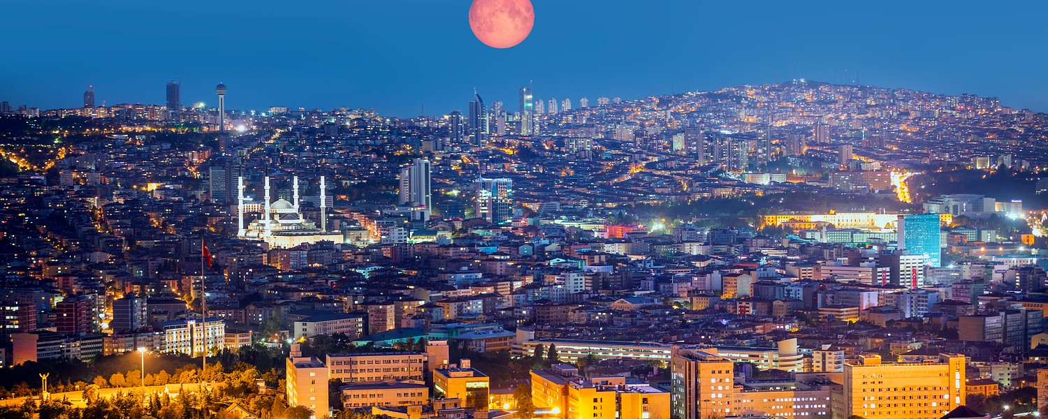 Full moon over Ankara
