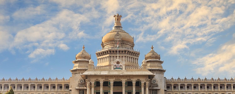 Vidhana Soudha, the state legislature building, in Bangalore