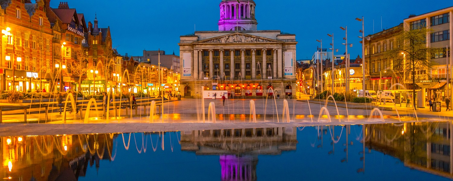 nottingham night view england