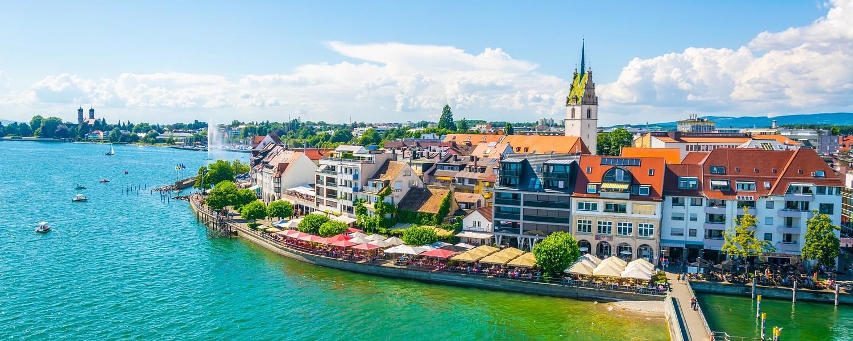 Panorama view of Friedrichshafen