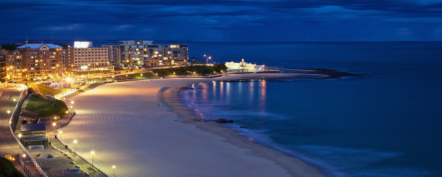 Newcastle Beach twilight
