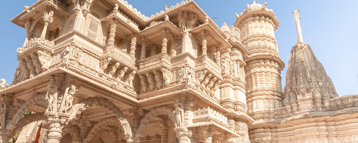 Hutheesing Jain Temple, consecreted in 1848, is one of the best known Jain temple in Ahmedabad in Gujarat, India