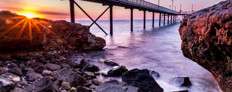 Behind the rock, Nightcliff Jetty, Darin NT Australia