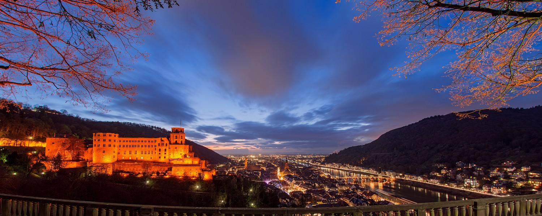 Panoramablick auf Heidelberg