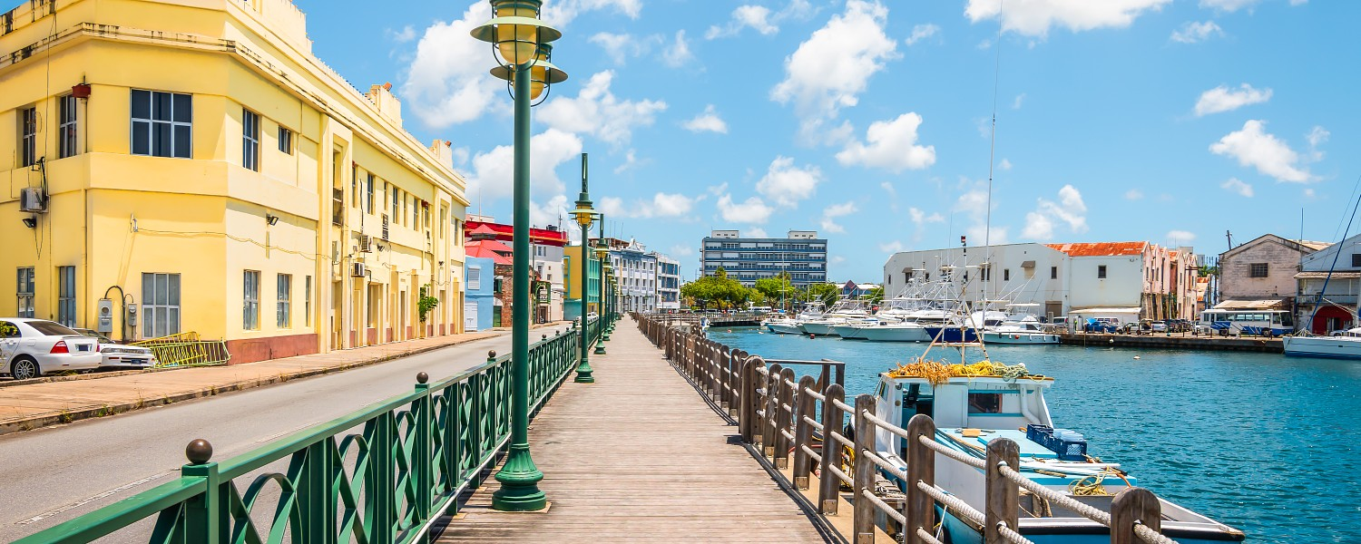 Bridgetown boardwalk, marina