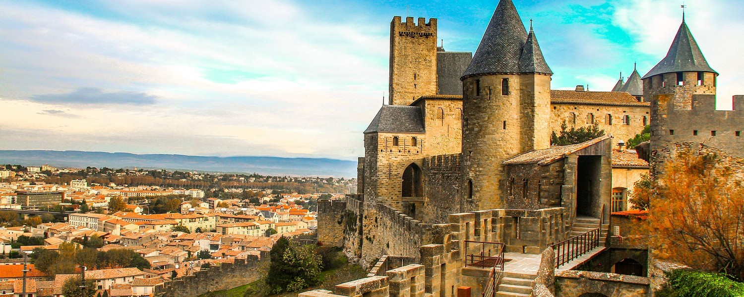 view point of Cite de Carcassonne
