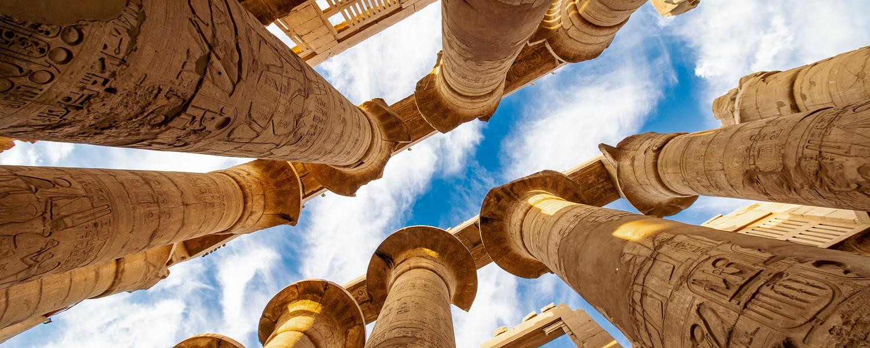 Columns near Luxor City in Egypt