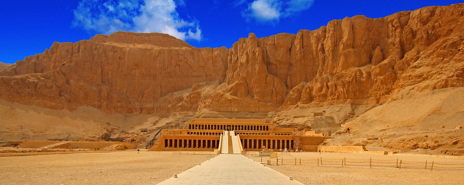 The temple of Hatshepsut near Luxor City in Egypt