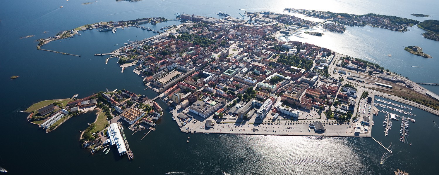 Karlskrona from above