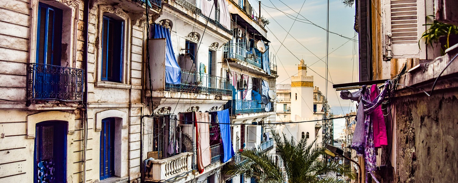 Traditional neighbourhood in Algiers