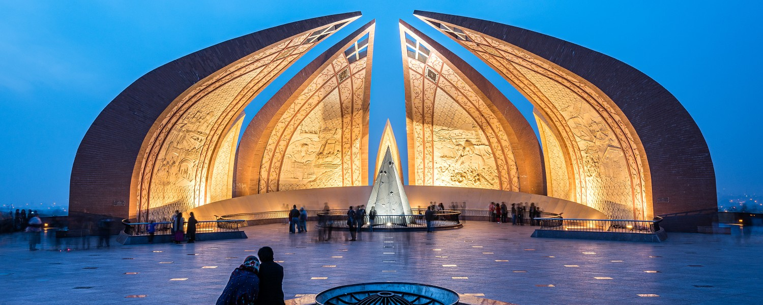 The Pakistan Monument is a landmark in Islamabad
